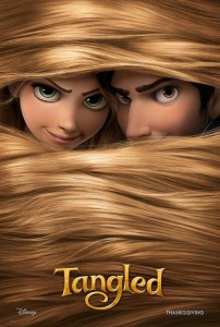 "Main Characters Flynn and Rapunzel ""Tangled"" in a Mess of Hair (Google Images)"